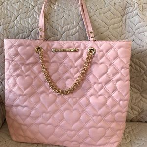 4ab571a62c Betsey Johnson Bags - Betsey Johnson Pink Swag Chain Tote